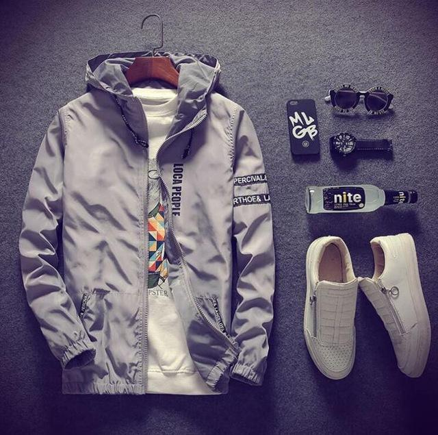 2018 Casual Men's Jackets Waterproof Spring Hooded Coats Men Outerwear Casualliilgal-liilgal