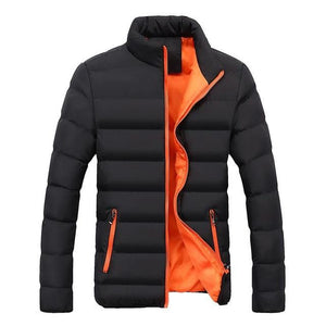 AOWOFS Autumn Winter 2019 Men Jackets Pure Color Stand Collar Outdoor Leisureliilgal-liilgal