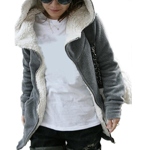 Winter Warm Hoodies Coat Female Long Sleeve Zipper Jacket Outerwear Femaleliilgal-liilgal