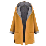 Women's Fahion Coat Jacket Medium Long Large Size Loose Front Open Coatsliilgal-liilgal