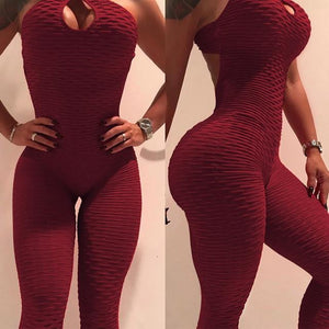 2019 New Style Women Sporting Jacquard Weave Jumpsuits Fitness Knitted Sexy Elasticliilgal-liilgal