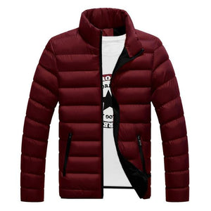 Winter Jacket Men 2018 Fashion Stand Collar Male Parka Jacket Mensliilgal-liilgal