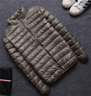 white duck down jacket men winter, breathable ultra thin down jacket, mensliilgal-liilgal