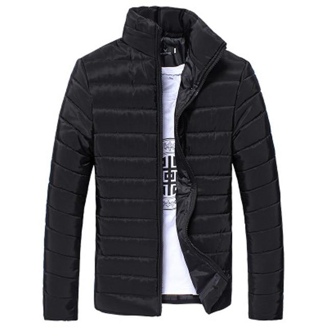 Men's Jacket Casual Winter Jacket Men Clothes Cotton Jacket Solid Zipper Coatliilgal-liilgal