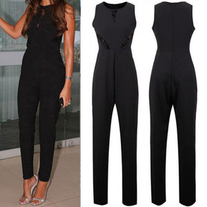Summer Sleeveless Jumpsuit Lace Evening Party Clothes Playsuit Ladies Slim Long Pantsliilgal-liilgal