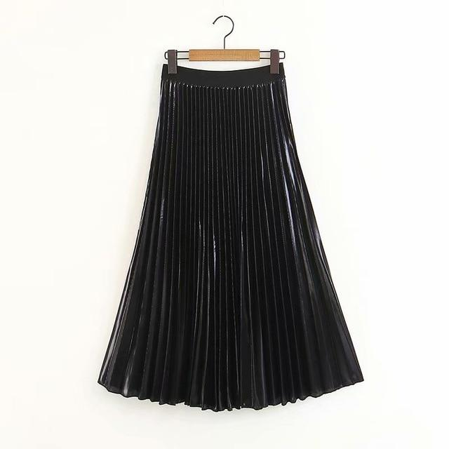 2019 New Arrival Women Fashion Ankle-length Long Pleated Skirts Lady Spring Summerliilgal-liilgal