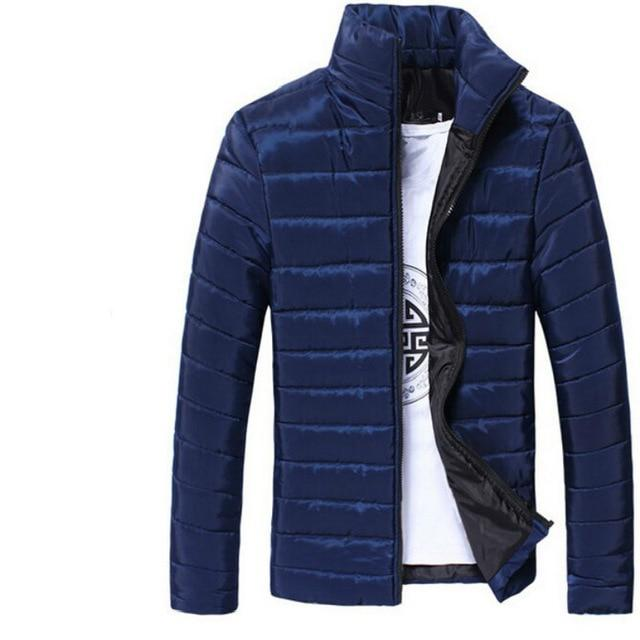 Classic Men Windbreak Winter Jackets Coats Solid Colors Outwear Tops for Newliilgal-liilgal