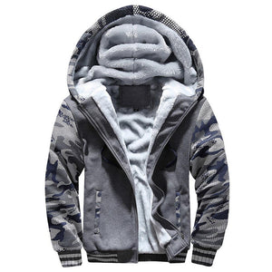 Winter Jacket Parka Men 2018 New Camouflage Print Pocket Hooded Coat Menliilgal-liilgal