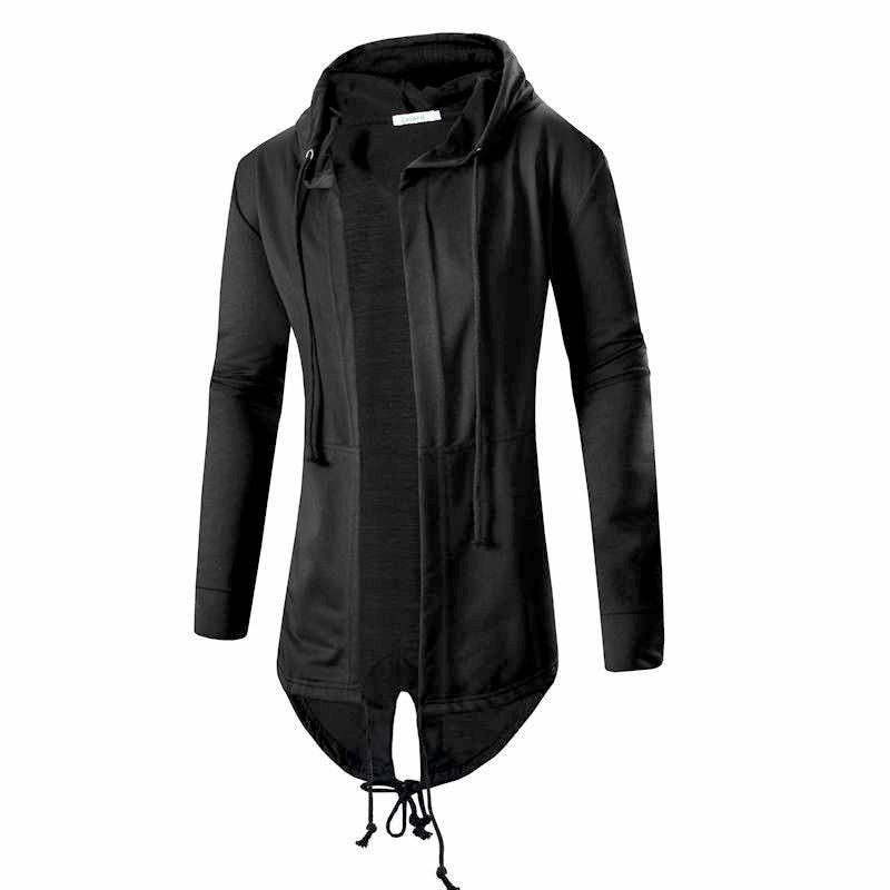 Men Spring Jackets Coats Solid Color Long Sleeve Cardigan Cloak Coat Openliilgal-liilgal