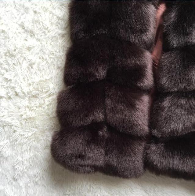 Faux Fox Fur Coat Women Winter Fashion Long Sleeve Artifical Fur Coatsliilgal-liilgal