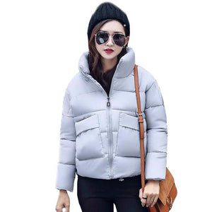 Spring Autumn Jacket Women New Fashion Warm Cotton Basic Jackets Winter Coatliilgal-liilgal