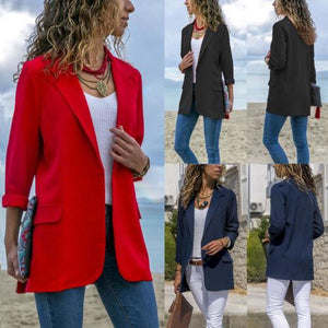 Fashion Women Ladies Overcoats Long Sleeve Cardigan Suit Outfits Clothes Jacket Coatliilgal-liilgal