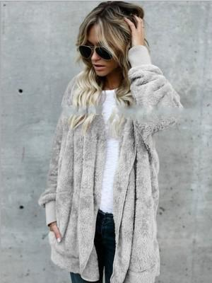2019 New Autumn And Winter Women's Fur Warm Cotton Coat Long Sectionliilgal-liilgal