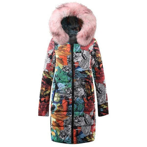 Autumn 2018 Winter Women Jackets Coat Female Long Down Cotton Ladiesliilgal-liilgal