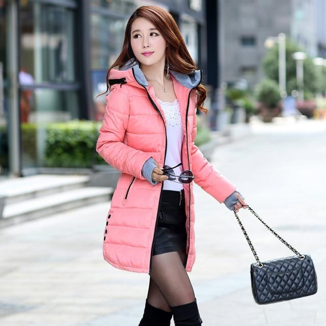 Thick Warm Women Jacket Hooded Casual Cotton Winter Coats Ladies Sweetliilgal-liilgal