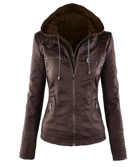Color zipper leather jacket plus-size jacket for women's fall 2018 hot newliilgal-liilgal