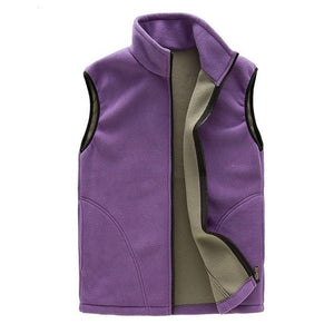 Autumn Winter Casual Fleece Vest Women Windproof Sleeveless Jacket Thick Warm Waistcoatliilgal-liilgal