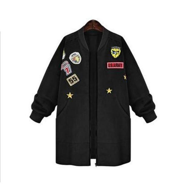 2019 New Arrival Autumn Womens Bomber Jecket Plus Size 5XL 3D Printliilgal-liilgal