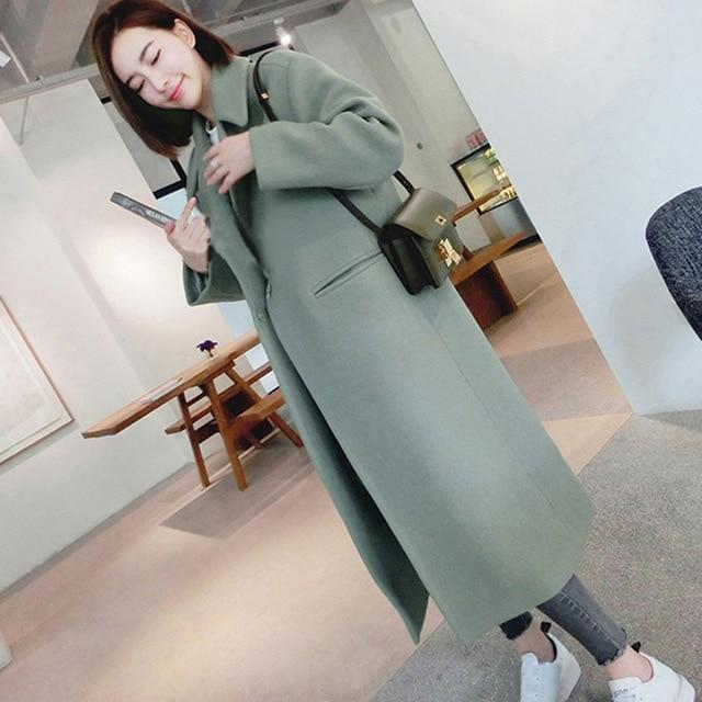 Winter woman coat female 2018 long thick jacket windbreaker women's thin overcoatliilgal-liilgal