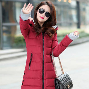 2018 New Autumn Winter Jacket Women Down Parkas Long Female Causal Slimliilgal-liilgal