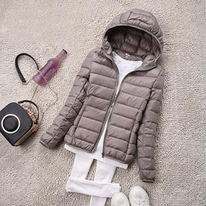 Women ultra light down jacket hooded winter duck down coats women Warmliilgal-liilgal