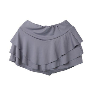 Women Casual summer fashion solid Skater Mini Skirt ladies fashion High Waistedliilgal-liilgal