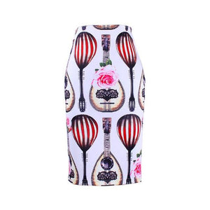 New arrival 3D Flower print girls pencil skirts lady midi saias femaleliilgal-liilgal
