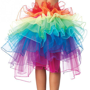 Women Sexy Show Rainbow Skirt Girls Ball Party Colorful Puff Skirt Nightclubliilgal-liilgal