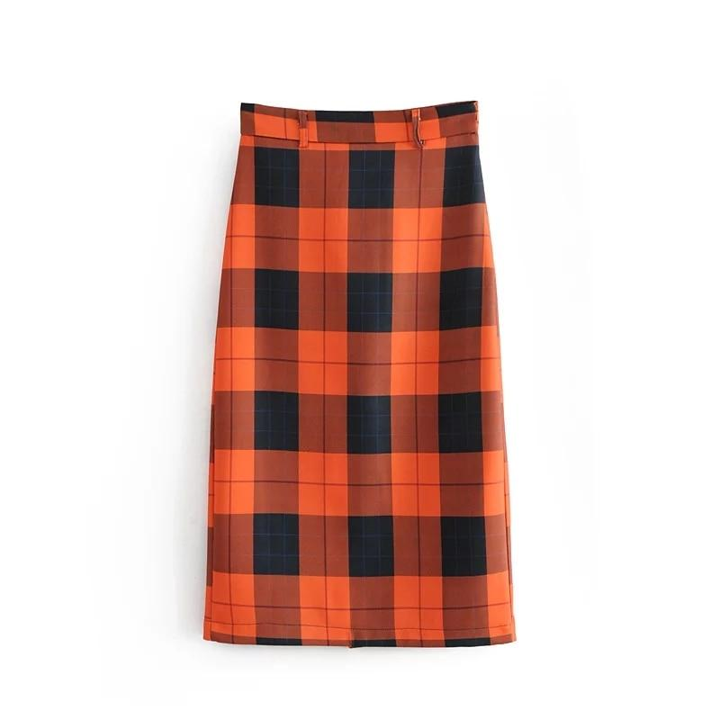 Jenny&Dave skirts women england harajuku plaid high waist package hip sexy forkliilgal-liilgal