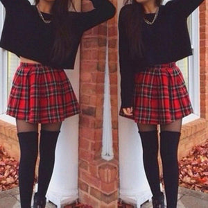 women's Skirts girl Girls sexy Skirts Scotland Plaid Checks School Uniformliilgal-liilgal