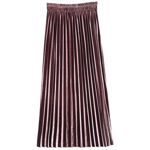 Women Summer Plus Size Skirt sexy Office Lady Pleated Plain Empire Girlsliilgal-liilgal