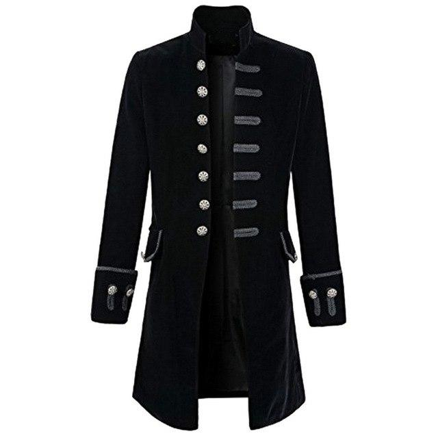 New Mens Vintage Jackets Single Breasted Jackets Coat Stand Collar Solidliilgal-liilgal