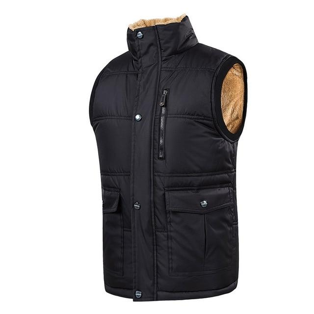 Plus Size 5XL Vest Men Winter Warm Vests Male With Manyliilgal-liilgal