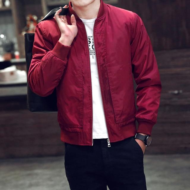 2018 Brand Men'S Jacket Spring And Autumn Thin Men'S Baseball Collarliilgal-liilgal