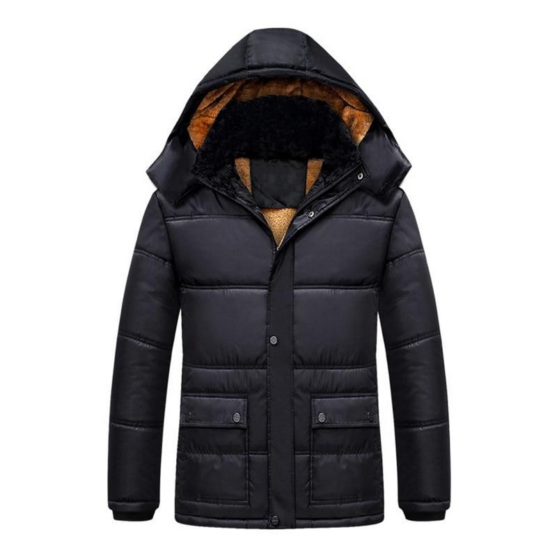 Casual Winter Men Thicken Casual Cotton Jacket Outdoor Waterproof Windbreaker Breathableliilgal-liilgal