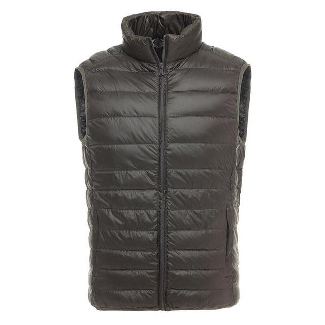 New Spring Autumn Casual Vest Men Brand Sleeveless Jacket Ultralight White Duckliilgal-liilgal