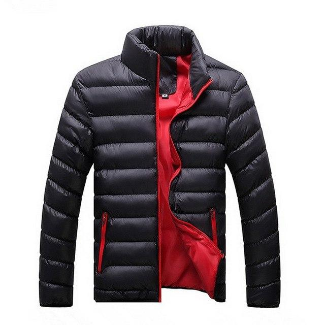 Winter Jacket Men Fashion Solid Stand Collar Mens Down Jacket Solidliilgal-liilgal