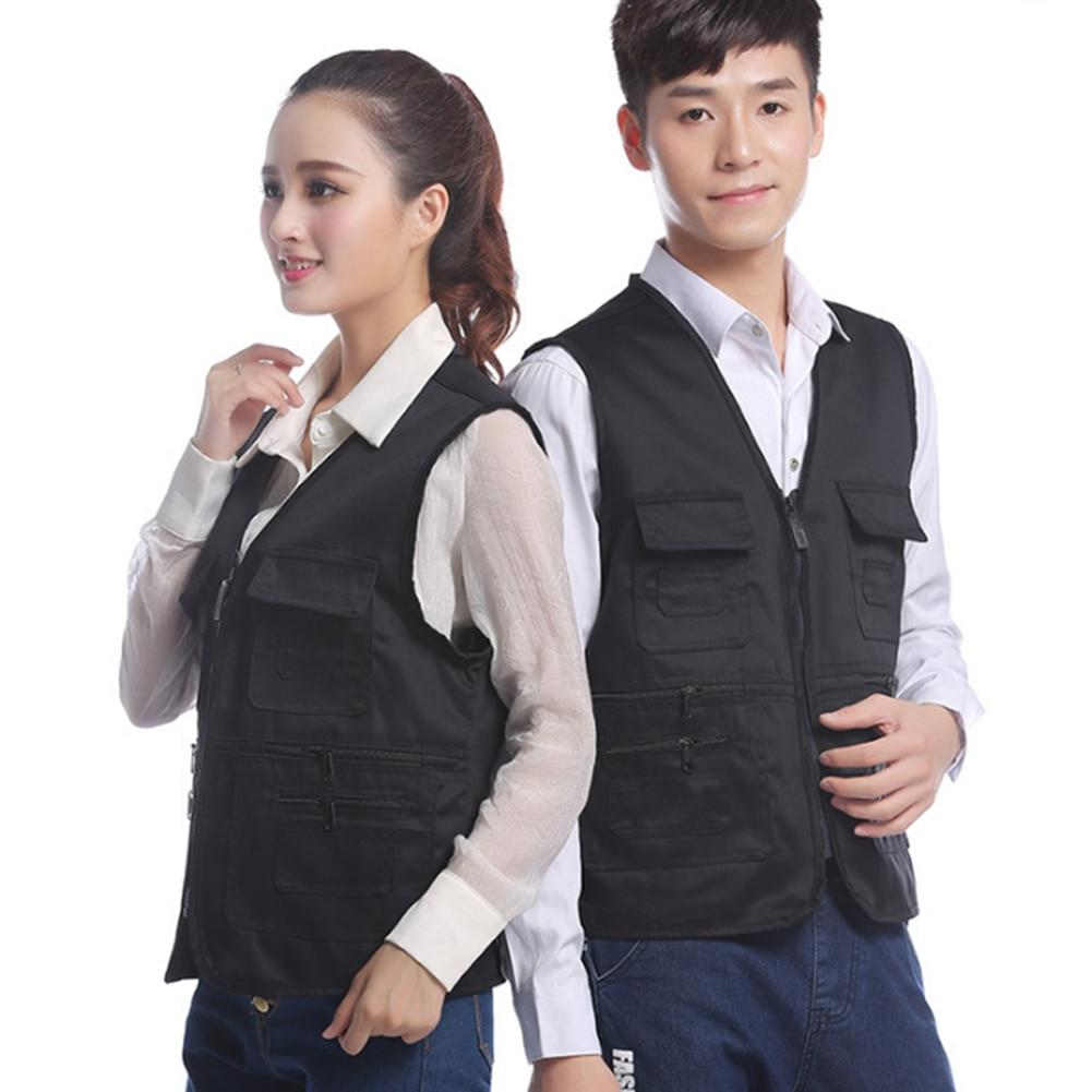 Autumn Winter Multi-Pocket Vest Waistcoat Photography Couple Sleeveless Jacket Vest Waist Coatliilgal-liilgal