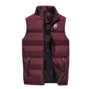 Fashion Men Cotton Vest Autumn and Winter Thickening Warm Vesst Men Windproofliilgal-liilgal