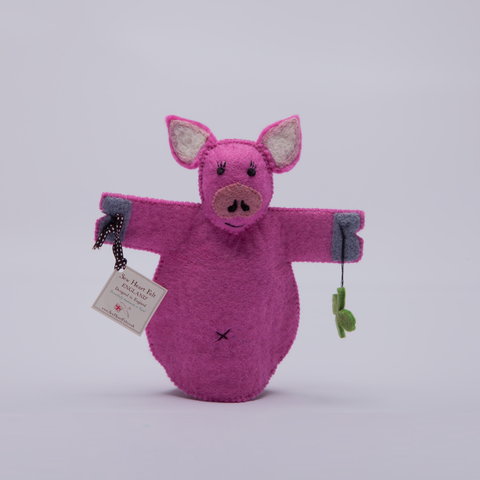 Sew Heart Felt | Felt Animal Puppet | Percy Pig