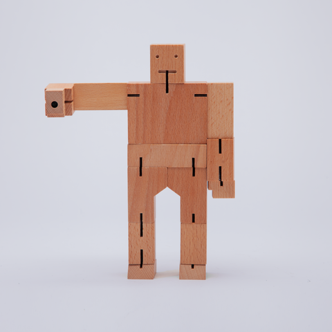 Areaware | Cubebot® | Medium | Natural