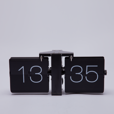 Karlsson | Flip Clock | Matt Black