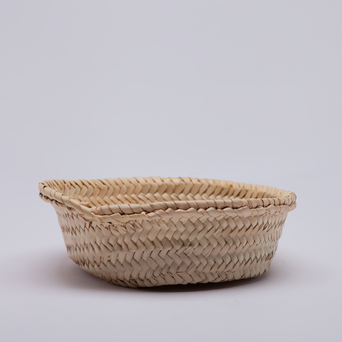 Moroccan Basket | Shallow Woven