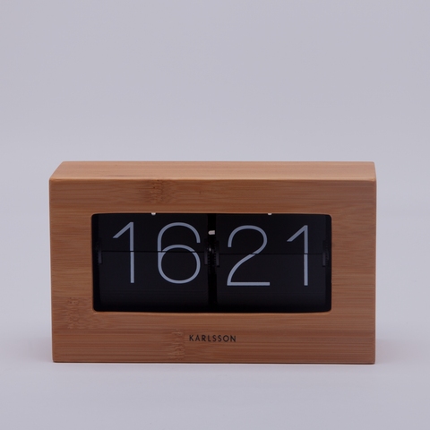 Karlsson | Boxed Flip Clock | Bamboo