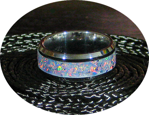 Tungsten and Opal Ring