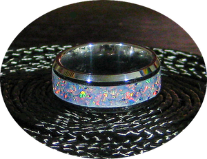 Tungsten Comfort Ring with Choice of Inlay