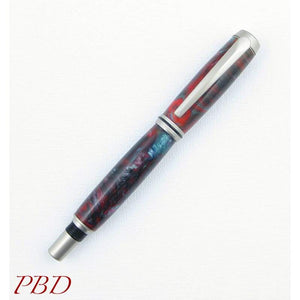 Barron Smoke and Fire Fountain Pen - Fountain