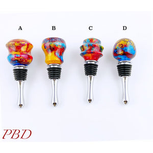 Colorful Acrylic Epoxy Bottle Stoppers - Bottle Stopper
