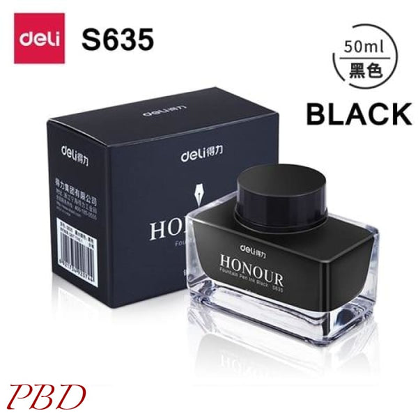 Deli s636 s635 Fountain pen ink 30ml 50ml bottle - Black-50ml - Misc