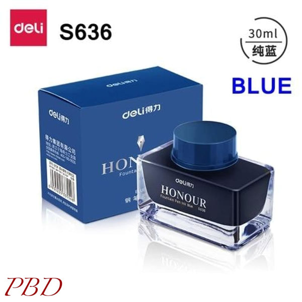 Deli s636 s635 Fountain pen ink 30ml 50ml bottle - Blue-30ml - Misc